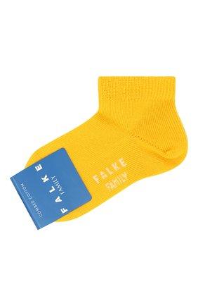 Детские хлопковые носки FALKE желтого цвета, арт. 10631 | Фото 1