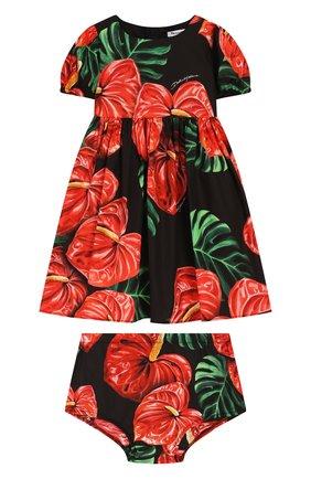 Женский комплект из платья и шорт DOLCE & GABBANA черного цвета, арт. L22DL5/FSEH0 | Фото 1