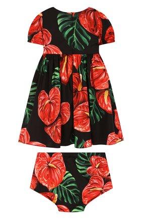 Женский комплект из платья и шорт DOLCE & GABBANA черного цвета, арт. L22DL5/FSEH0 | Фото 2