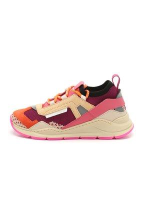 Детские кроссовки DOLCE & GABBANA оранжевого цвета, арт. DA0904/AX036/29-36 | Фото 2 (Материал внутренний: Натуральная кожа; Материал внешний: Текстиль; Стили: Гранж)