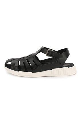 Детские кожаные сандалии DOLCE & GABBANA черного цвета, арт. DA0910/A1048/37-39 | Фото 2
