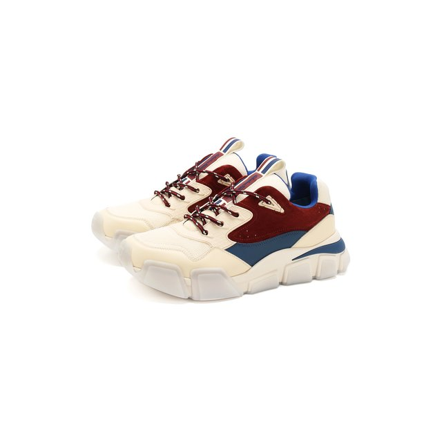 Комбинированные кроссовки Salvatore Ferragamo — Комбинированные кроссовки