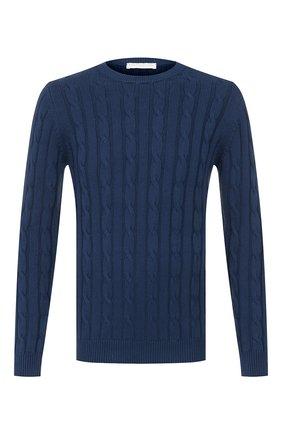 Мужской хлопковый свитер DANIELE FIESOLI темно-синего цвета, арт. DF 0129 | Фото 1