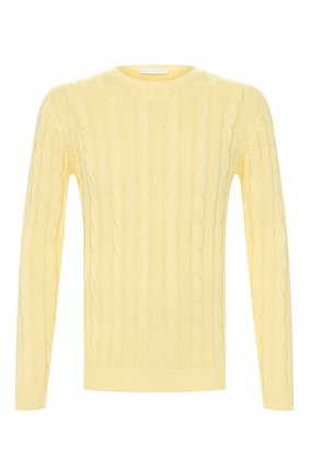 Мужской хлопковый свитер DANIELE FIESOLI желтого цвета, арт. DF 0129 | Фото 1