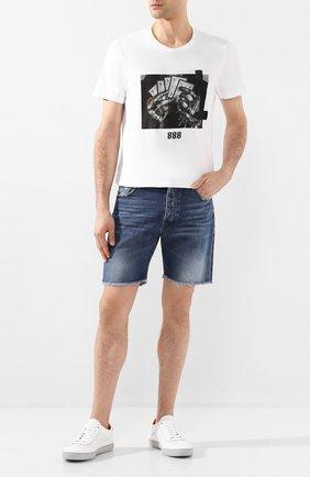 Мужская хлопковая футболка RH45 белого цвета, арт. HS27-I | Фото 2