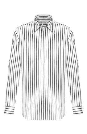Мужская хлопковая рубашка MAISON MARGIELA черно-белого цвета, арт. S50DL0435/S52652 | Фото 1