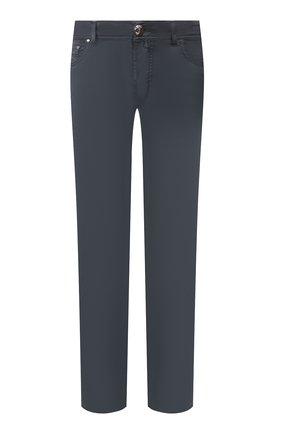 Мужской брюки из смеси хлопка и шелка JACOB COHEN темно-синего цвета, арт. J688 C0MF 01854-S/53 | Фото 1