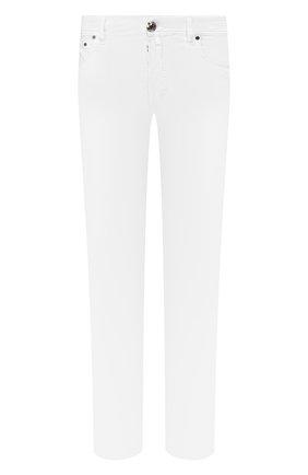 Мужской брюки из смеси хлопка и шелка JACOB COHEN белого цвета, арт. J688 C0MF 01854-S/53 | Фото 1
