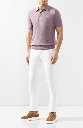 Мужской брюки из смеси хлопка и шелка JACOB COHEN белого цвета, арт. J688 C0MF 01854-S/53 | Фото 2