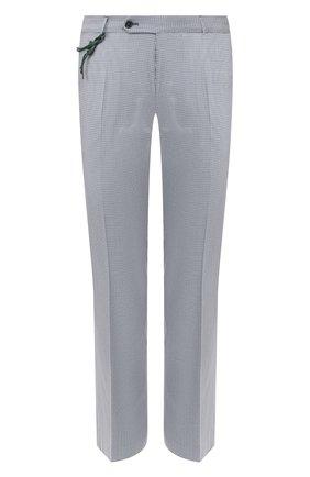 Мужской брюки из смеси шерсти и хлопка BERWICH голубого цвета, арт. SC/1/MZ1379X | Фото 1