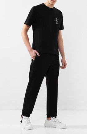 Мужская хлопковая футболка 1017 ALYX 9SM черного цвета, арт. AAMTS0159FA01   Фото 2