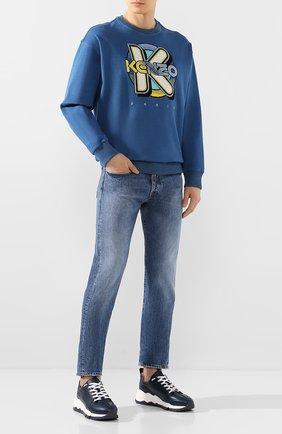 Мужские джинсы 2 MEN JEANS синего цвета, арт. GIULIAN0/YNGM6 | Фото 2