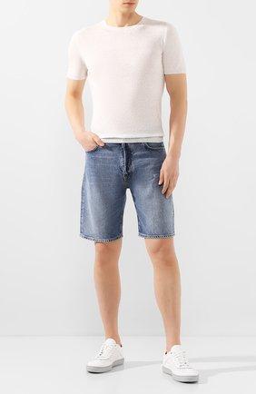 Мужские джинсовые шорты 2 MEN JEANS синего цвета, арт. RICHI/YNG2Z | Фото 2