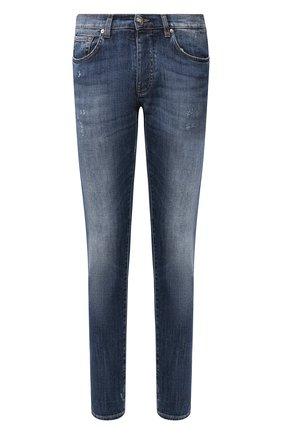 Мужские джинсы 2 MEN JEANS темно-синего цвета, арт. MARC0/YHP3G | Фото 1