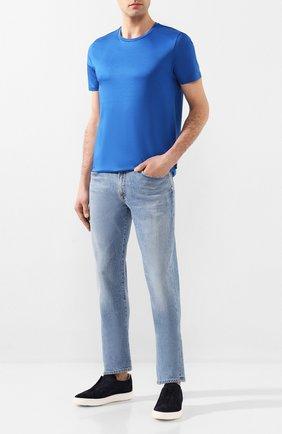 Мужские брюки CITIZENS OF HUMANITY синего цвета, арт. 6180-1140 | Фото 2