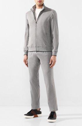 Мужской хлопковый спортивный костюм LUCIANO BARBERA серого цвета, арт. 119500/81182 | Фото 1