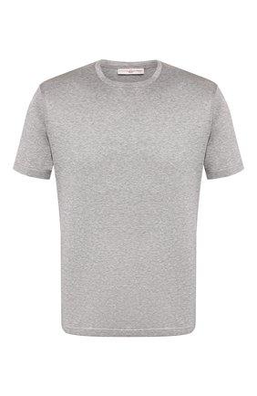 Мужская хлопковая футболка LUCIANO BARBERA серого цвета, арт. 119565/81171 | Фото 1