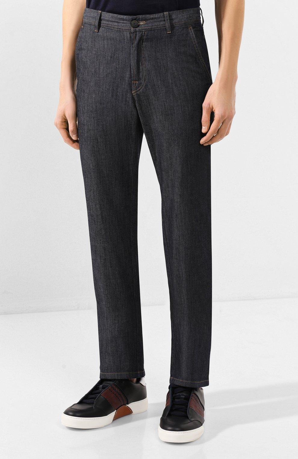 Мужские джинсы BRIONI темно-серого цвета, арт. SPL50M/P9D17/SUNSET   Фото 3