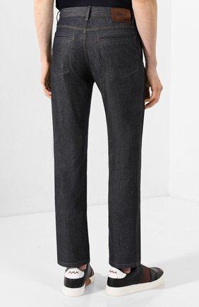 Мужские джинсы BRIONI темно-серого цвета, арт. SPL50M/P9D17/SUNSET   Фото 4