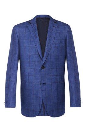 Мужской пиджак из смеси шерсти и шелка BRIONI синего цвета, арт. RGKN0L/P9A0E/D0R0TE0 | Фото 1