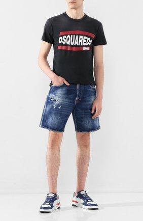 Мужская хлопковая футболка DSQUARED2 черного цвета, арт. S74GD0639/S21600   Фото 2