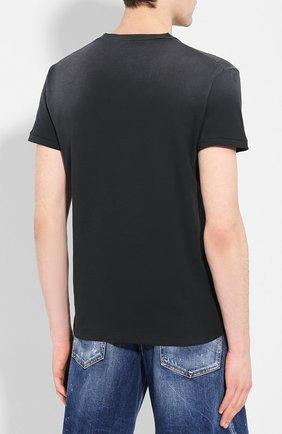 Мужская хлопковая футболка DSQUARED2 черного цвета, арт. S74GD0639/S21600   Фото 4