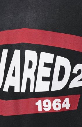 Мужская хлопковая футболка DSQUARED2 черного цвета, арт. S74GD0639/S21600   Фото 5
