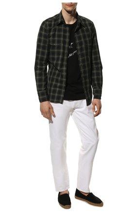 Мужские текстильные эспадрильи SAINT LAURENT черного цвета, арт. 605951/1P210 | Фото 2