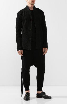 Мужской кожаные дерби O`KEEFFE черного цвета, арт. 0K1532/M0NTPARNASSE | Фото 2