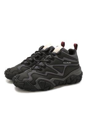 Мужские комбинированные кроссовки bolster bensen ACNE STUDIOS черного цвета, арт. BD0099 | Фото 1