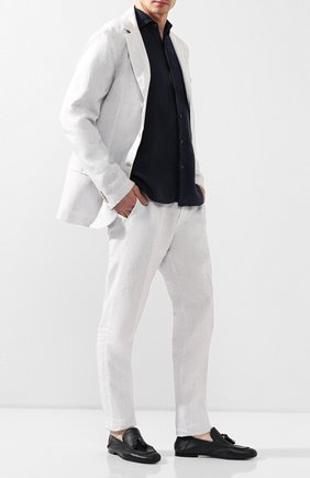 Мужские кожаные лоферы ROCCO P. черного цвета, арт. 10007/ANTIK | Фото 2