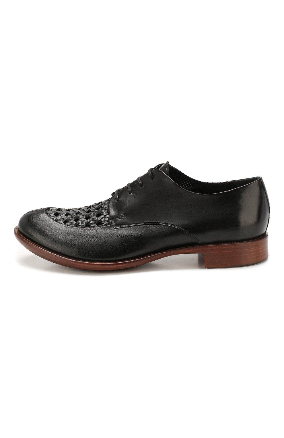 Мужские кожаные дерби ROCCO P. черного цвета, арт. 10011/TRIP0N | Фото 3