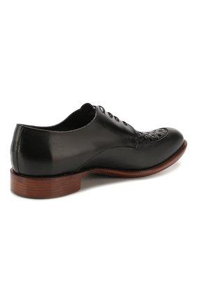 Мужские кожаные дерби ROCCO P. черного цвета, арт. 10011/TRIP0N | Фото 4