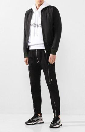 Мужские комбинированные кроссовки trevor MONCLER серого цвета, арт. F1-09A-4M716-00-02S8A | Фото 2