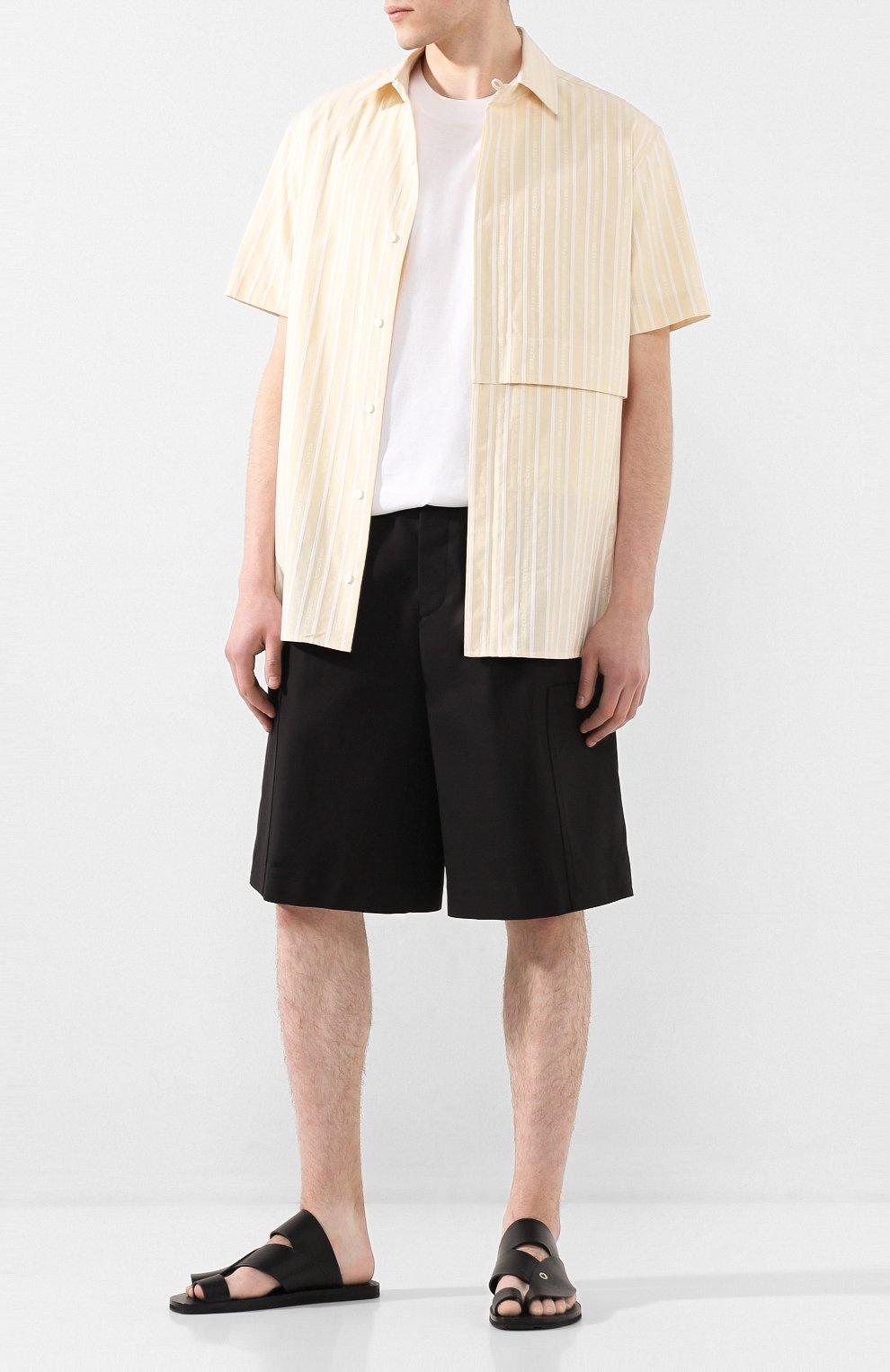 Мужские кожаные шлепанцы JIL SANDER черного цвета, арт. JI34500B-11550 | Фото 2