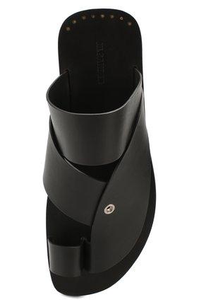 Мужские кожаные шлепанцы JIL SANDER черного цвета, арт. JI34500B-11550 | Фото 5