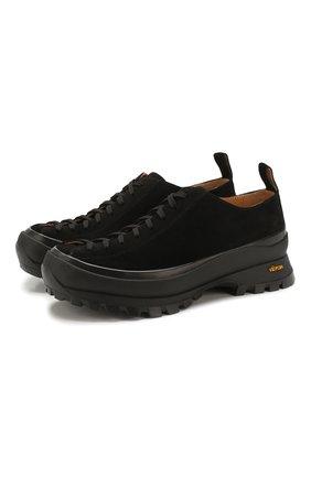 Мужские замшевые ботинки JIL SANDER черного цвета, арт. JP34580A-11133 | Фото 1