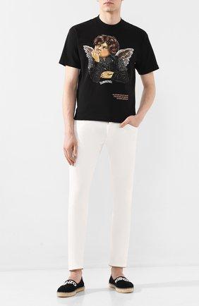 Мужские замшевые эспадрильи KENZO черного цвета, арт. FA55ES178L56 | Фото 2