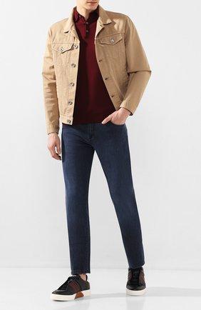 Мужские кожаные кеды ZEGNA COUTURE темно-синего цвета, арт. A4138X-LHDGR | Фото 2