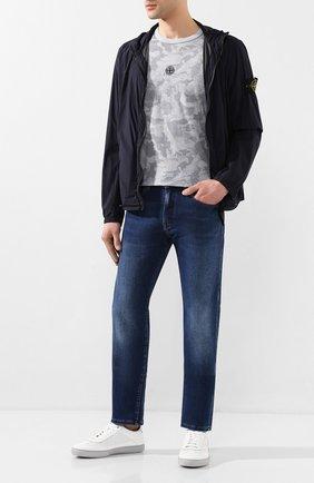 Мужские кожаные кеды SANTONI белого цвета, арт. MSAM21339GRPXDFRI50 | Фото 2