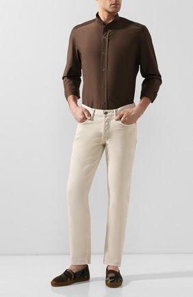 Мужские текстильные эспадрильи SAINT LAURENT хаки цвета, арт. 605951/1IR10 | Фото 2