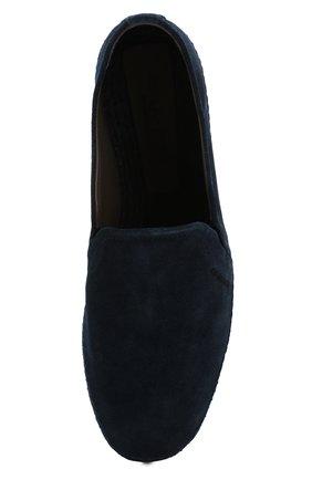 Мужские замшевые эспадрильи SERGIO ROSSI синего цвета, арт. A89650-MCRM17 | Фото 5