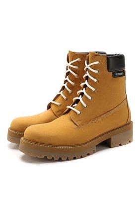 Мужские замшевые ботинки VETEMENTS бежевого цвета, арт. SS20B0018 2413/M | Фото 1