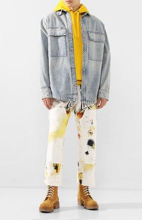 Мужские замшевые ботинки VETEMENTS бежевого цвета, арт. SS20B0018 2413/M | Фото 2