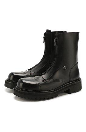 Мужские кожаные сапоги VETEMENTS черного цвета, арт. SS20B0021 2406/M | Фото 1