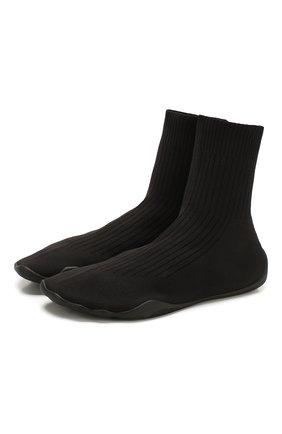 Мужские текстильные кроссовки VETEMENTS черного цвета, арт. SS20SN005 1368/M | Фото 1