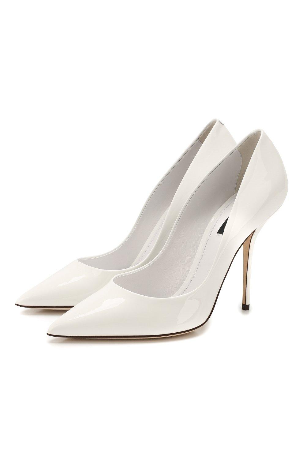 Женские кожаные туфли cardinale DOLCE & GABBANA белого цвета, арт. CD1475/A1471   Фото 1