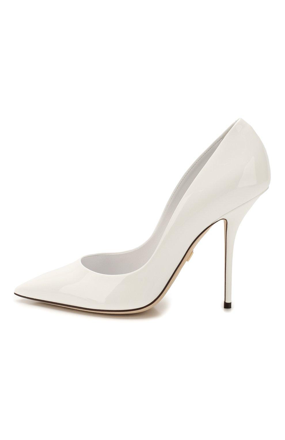 Женские кожаные туфли cardinale DOLCE & GABBANA белого цвета, арт. CD1475/A1471   Фото 3