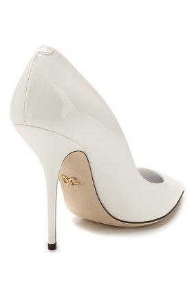 Женские кожаные туфли cardinale DOLCE & GABBANA белого цвета, арт. CD1475/A1471   Фото 4
