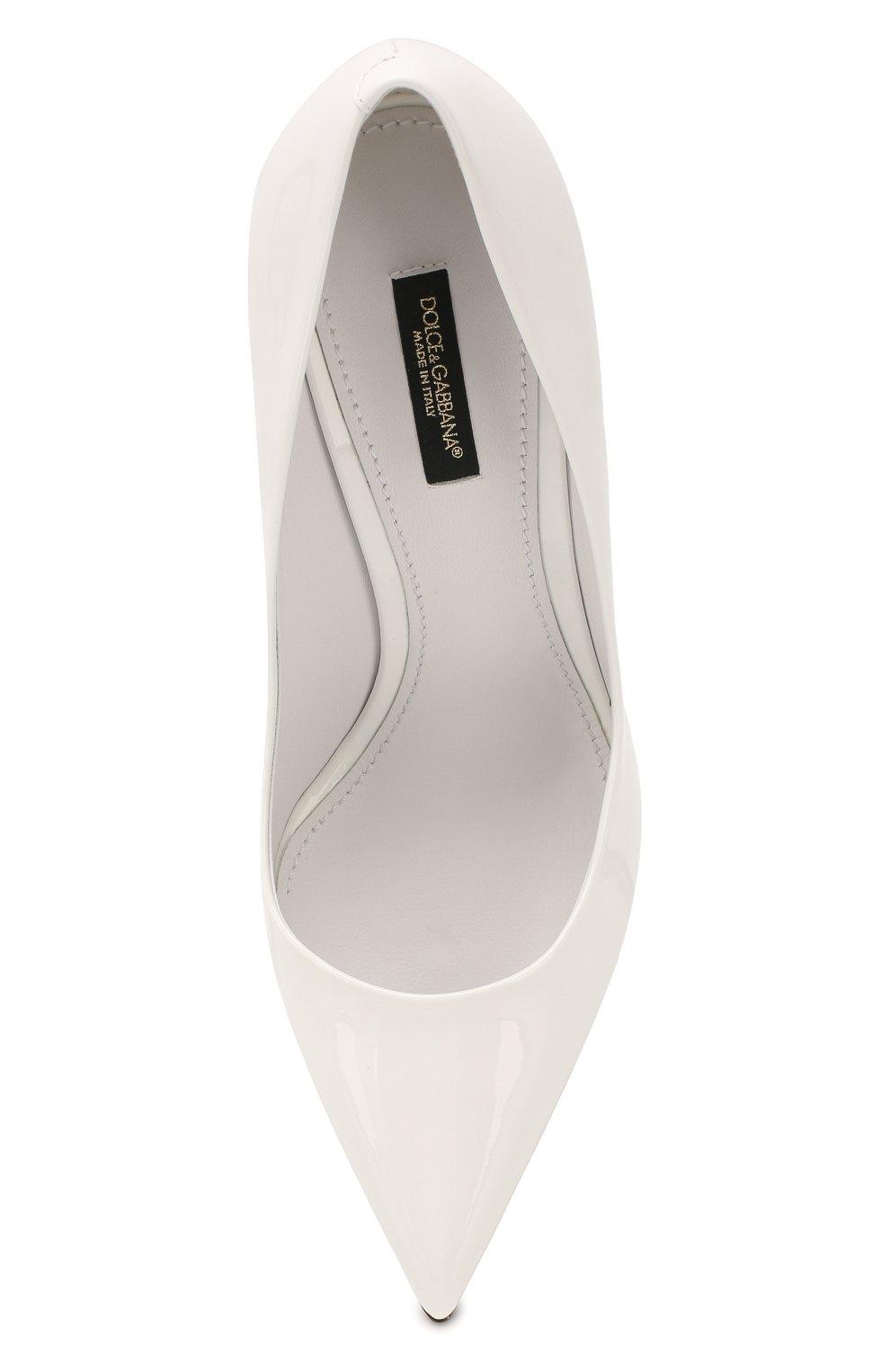Женские кожаные туфли cardinale DOLCE & GABBANA белого цвета, арт. CD1475/A1471   Фото 5